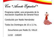 PROGRAMAS RADIALES SOBRE TEMAS DE ESPAÑA EN LA ZONA QUE ABARCA LA FEDERACIÓN REGIONAL DE SOCIEDADES ESPAÑOLAS